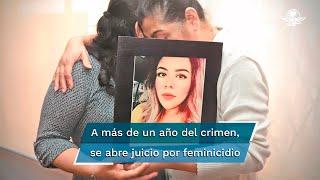 """Luego de dos horas y media de audiencia intermedia, el juez de control dictó auto de apertura a juicio contra Erick Francisco """"N"""" acusado del feminicidio de la joven ocurrido en febrero de 2020"""