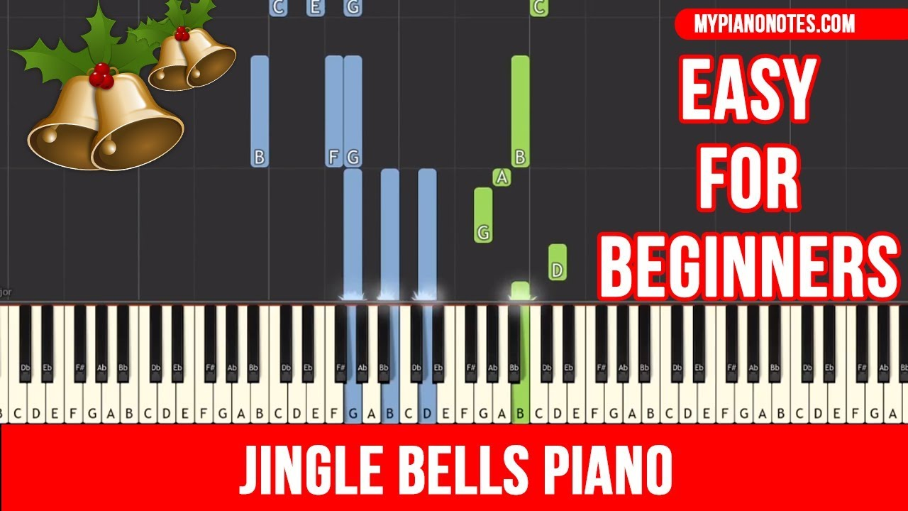 Jingle Bells Piano - EASY Tutorial with Letter Notes [with ...