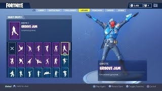 "FORTNITE NEW BLOCKBUSTER SKIN ""THE VISITOR"" Skin Showcased with all Season 4 Dances and Emotes"