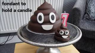 How to make an Emoji Poo Birthday Cake
