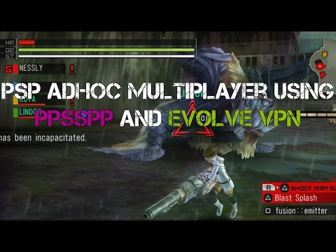 PSP Adhoc Multiplayer using PPSSPP and Evolve VPN 1080 HD