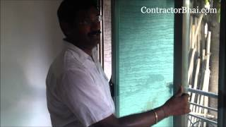 """Jindal Aluminium Sliding Window"" by ContractorBhai.com"