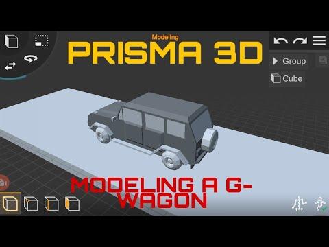 Prisma 3D : Modelling A Low Poly Car(G-Wagon)