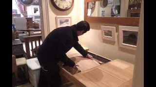 Extending The Ash Dining Table In The Edinburgh Furniture Shop