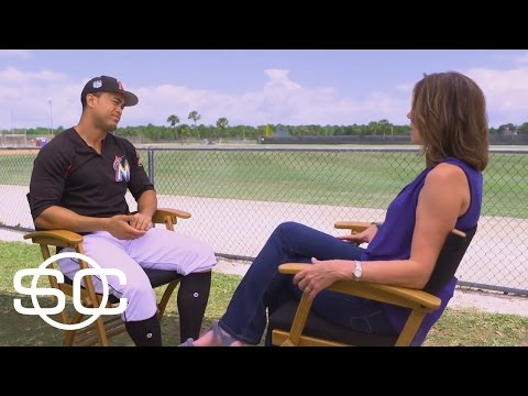 Giancarlo Stanton Interview With Hannah Storm | SportsCenter | March 31, 2017