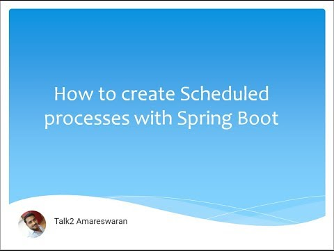 PART 1 - HOW TO CREATE A SCHEDULED PROCESSES WITH SPRING