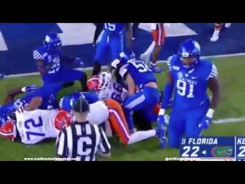 The Penthouse Blog - New Video Shows Kentucky's LB Trying To Snaps UF's Quarterback's Ankle