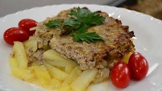 Блюдо холостяка - картофель с фаршем, запеченный в духовке