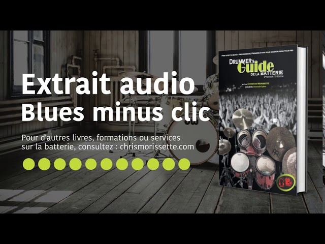 Extrait audio Blues minus clic - Drummer's Guide de la batterie