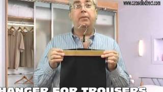Felt Lined Wooden Trouser Clamp Hanger From Caraselledirect.com