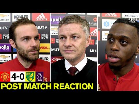 Solskjaer, Wan-Bissaka & Mata  | Post Match Reaction | Manchester United 4-0 Norwich City