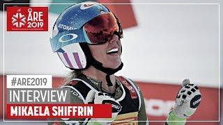 "Mikaela Shiffrin | ""A tight race"" | Ladies' SG | Are | FIS World Alpine Ski Championships"