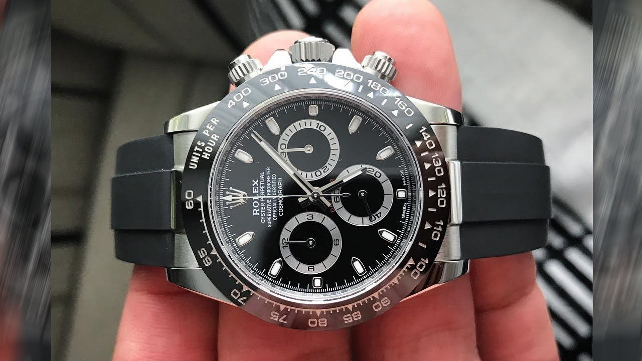 rolex cosmograph daytona 116500ln black dial 40 mm with