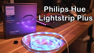 Philips Hue Lightstrip Plus Unboxing Install & Review