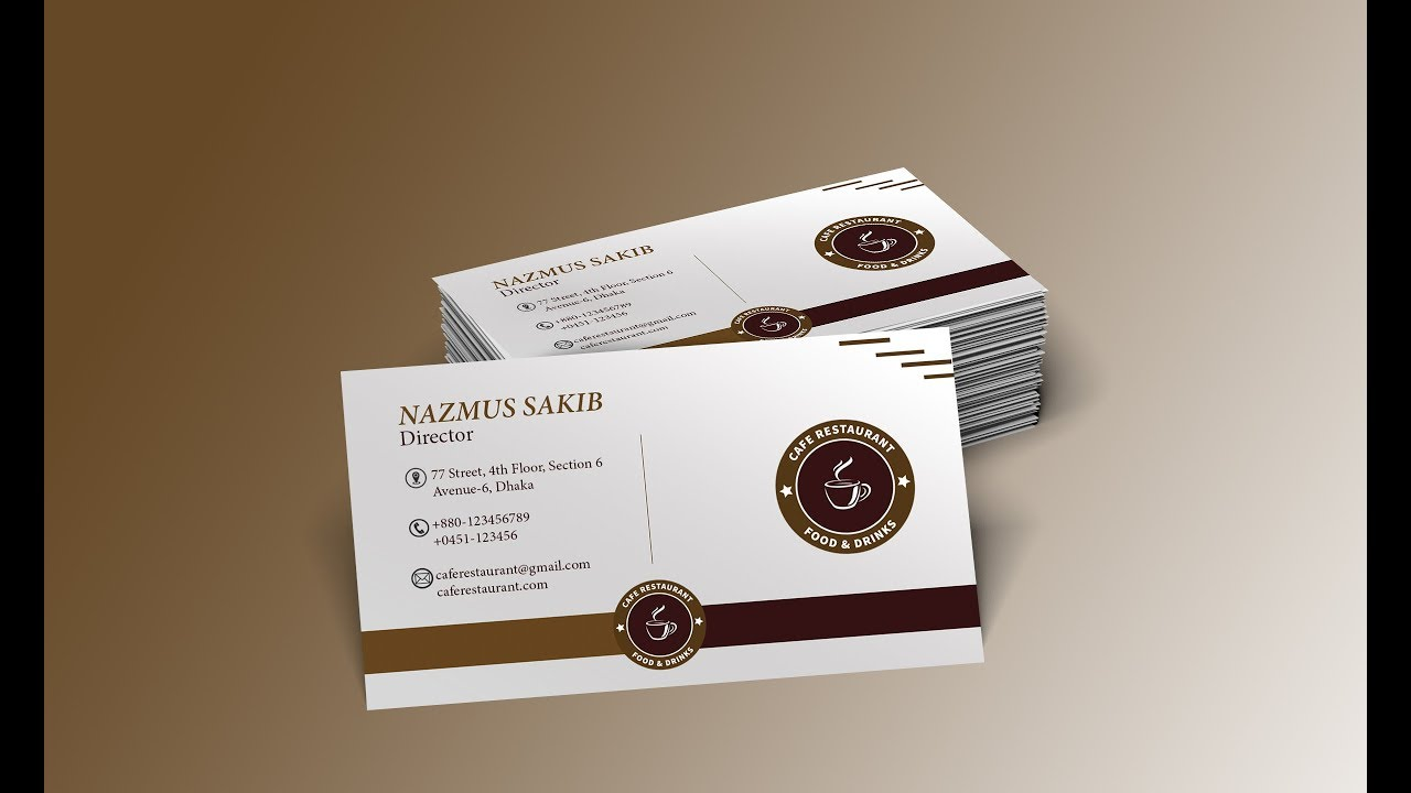 How to design a restaurant business card visiting card adobe how to design a restaurant business card visiting card adobe photoshop tutorial colourmoves