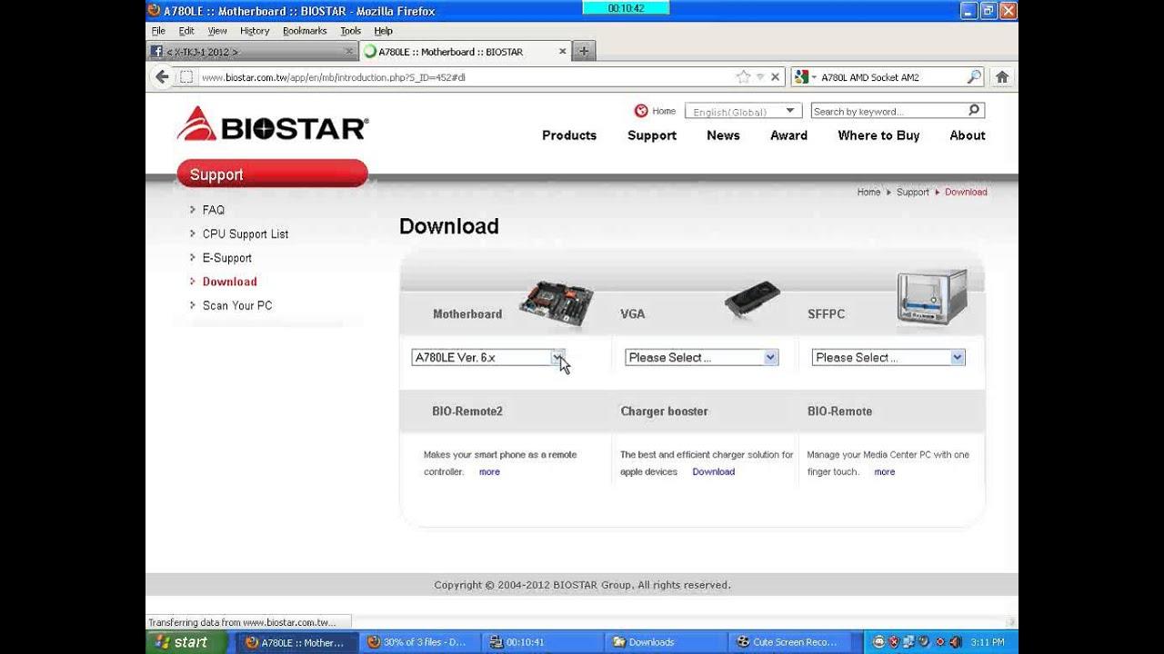 Biostar A780L3C Ver. 7.3 Realtek LAN Windows
