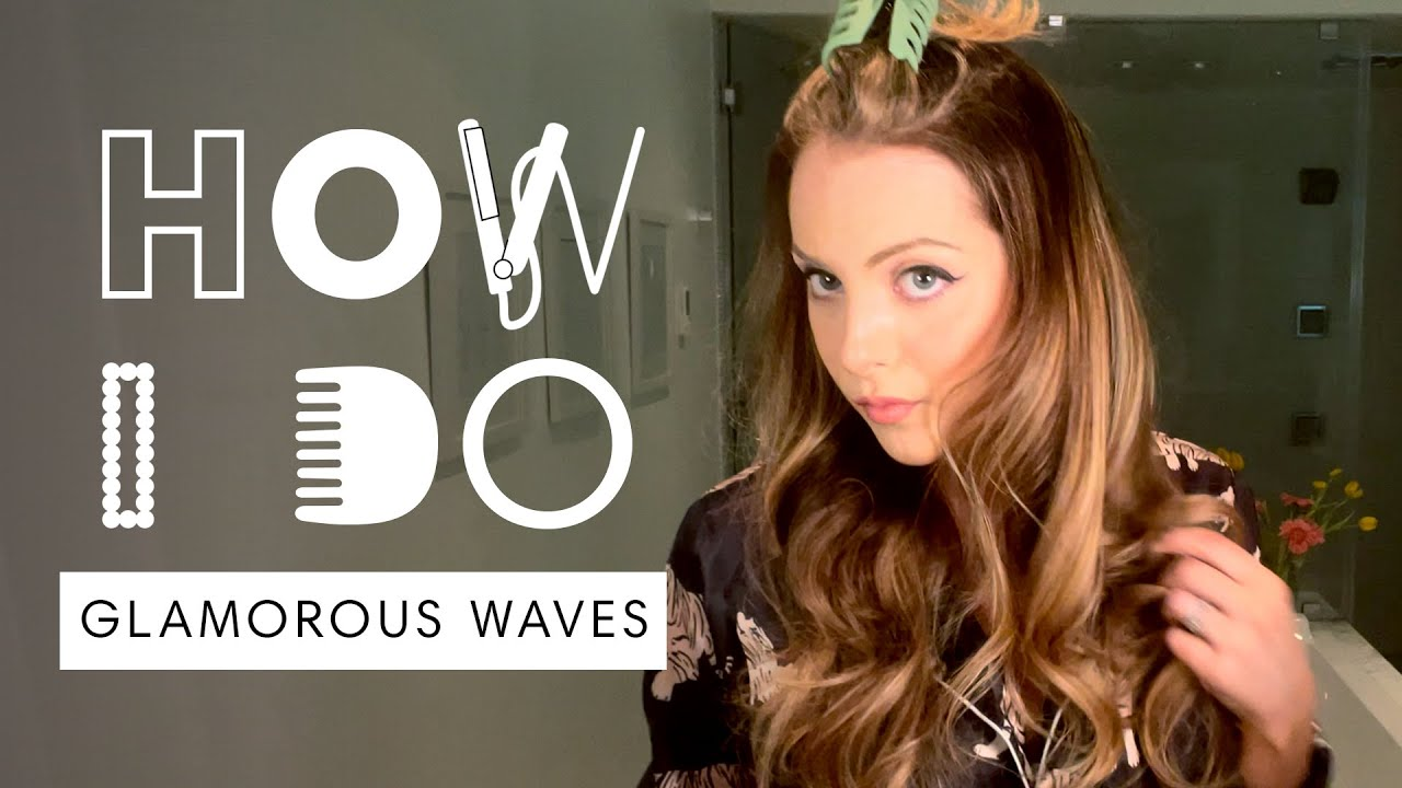 Liz Gillies' Glamorous Waves Hair Tutorial | How I Do | Harper's BAZAAR