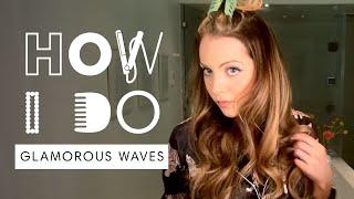 Liz Gillies' Glamorous Waves Hair Tutorial   How I Do   Harper's BAZAAR