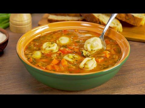 Изумительный СУП С ПЕЛЬМЕНЯМИ и овощами в узбекском стиле. Рецепт от Всегда Вкусно!