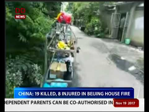 China: 19 killed, 8 injured in Beijing house fire