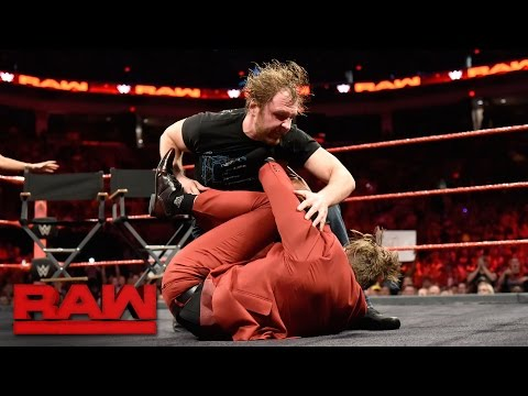 "The Miz incites Dean Ambrose on the ""Miz TV"" set: Raw, April 17, 2017"