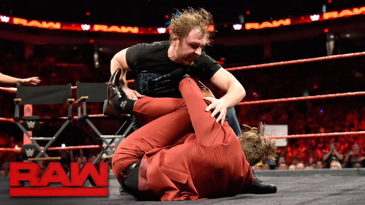 "The Miz incites Dean Ambrose on the ""Miz TV"" set: Raw, April 17, 2017"