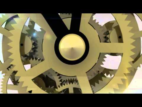CGI Motion Graphics Mechanical clock RHYTHM QUARTZ