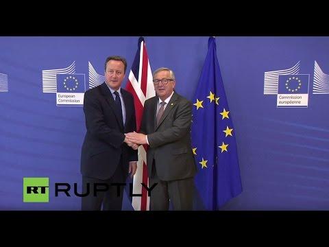 LIVE: David Cameron arrives for European Council