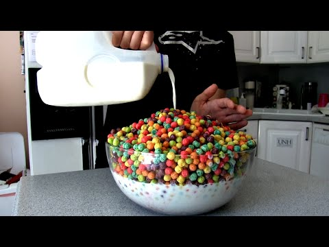 Giant Bowl of Trix Cereal (5,000+ Calories)