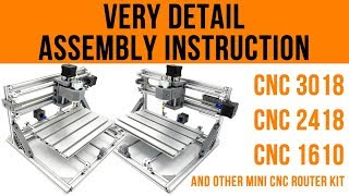 CNC 3018 Assembly Instructions   Step by Step on How to Assemble Mini CNC 3018/2418/1610 rounter kit