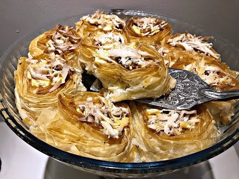 Paqe Me Mishe  Pule - Hazır Yufkadan Tavuklu Paça Böreği