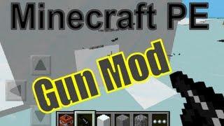 Minecraft Pocket Edition Mods: The Gun Mod