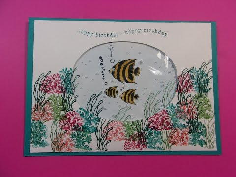 Great Everyday Sealife or Aquarium Fish Card with Water!