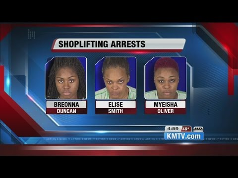 Three arrested in outlet mall shoplifting spree