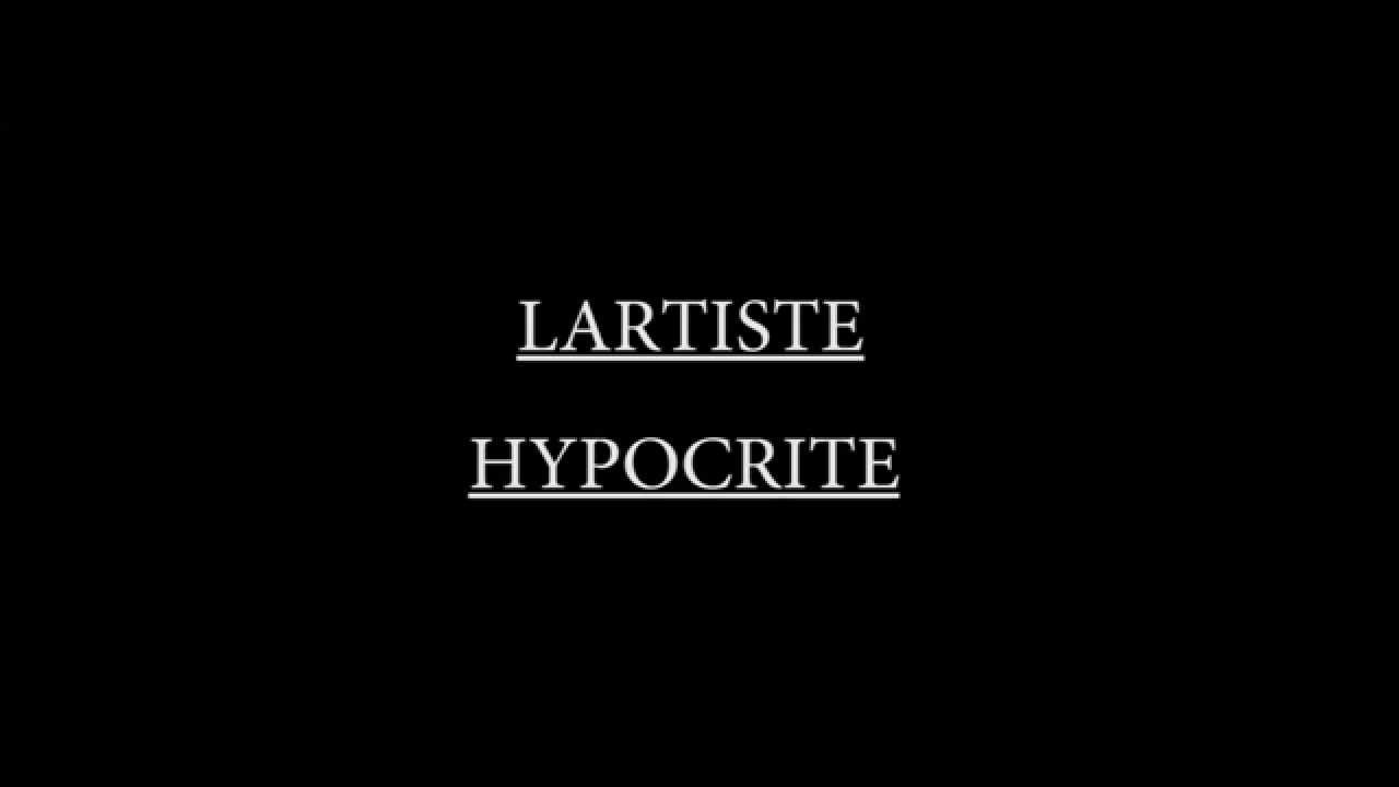 hypocrite lartiste
