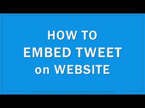 How To Embed Tweets On Website