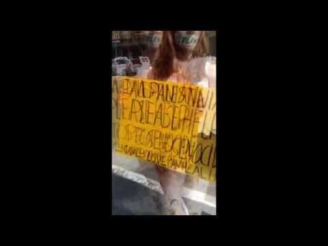 Jil Love Revolution Artivism for GAZA on Hollywood Walk of Fame.