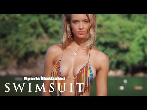 Texan Beauty Hannah Ferguson's Poolside Paradise   Profile   Sports Illustrated Swimsuit