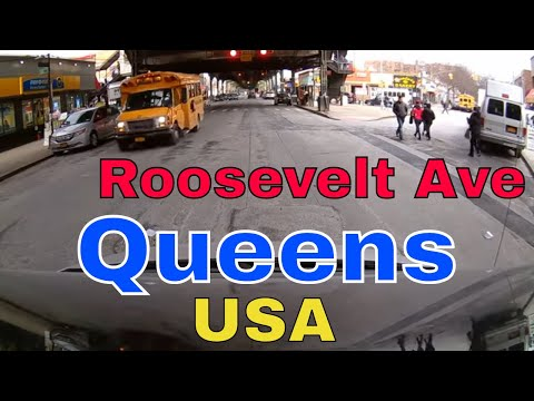 Driving Downtown - Roosevelt Ave - Queens - New York - USA