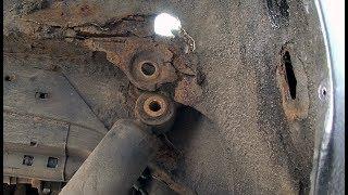 Ремонт уха крепление заднего амортизатора. Renault Megane Scenic.