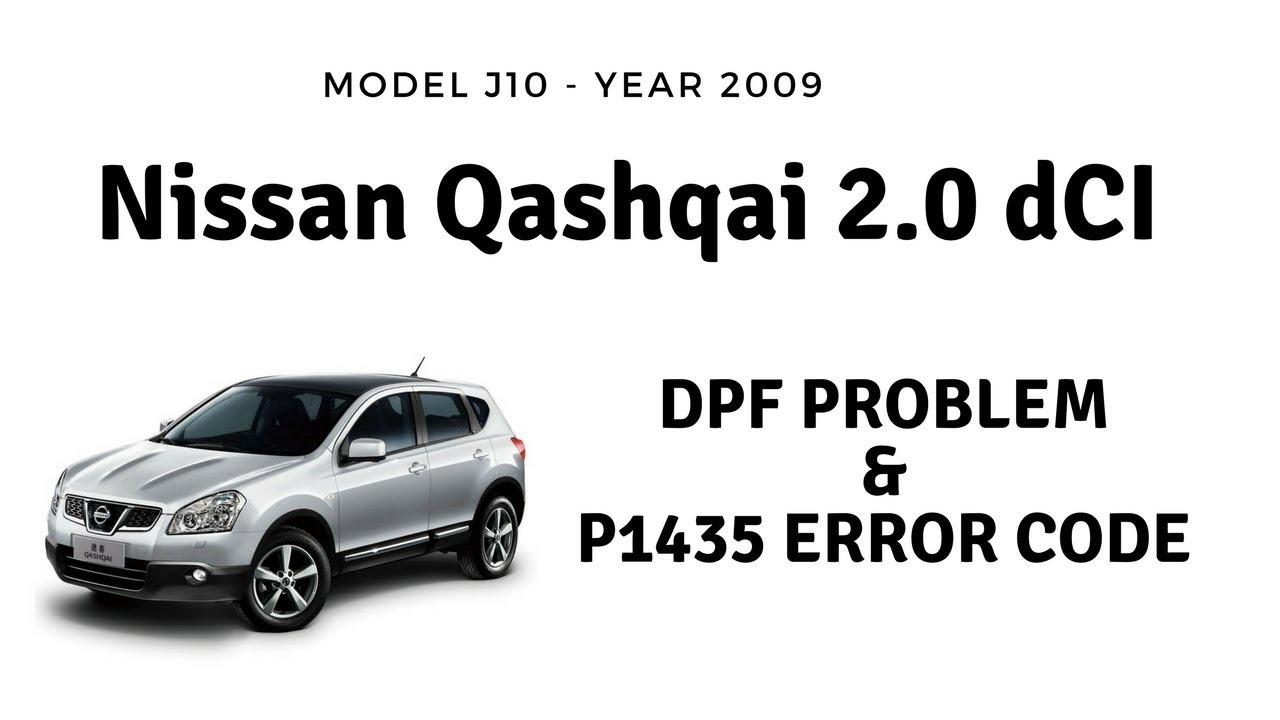 Nissan Qashqai J10 2.0 dCI DPF regeneration problem. The