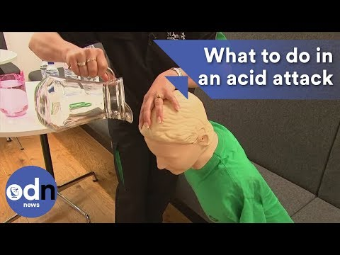 What to do in an acid attack