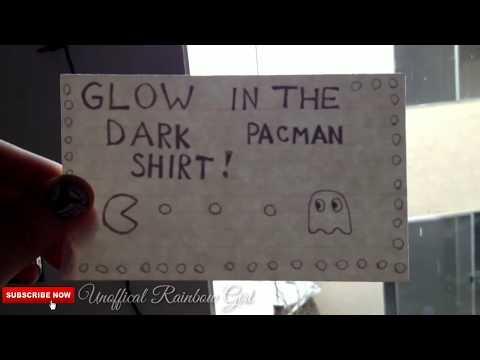 T Shirt Puffy Paint Fun & Glow In The Dark Pacman Arcade