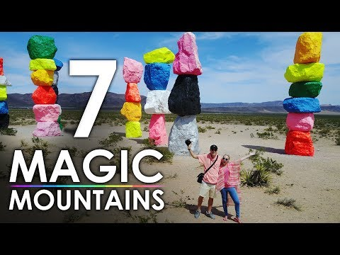Seven Magic Mountains Las Vegas Art Project — Drone Video
