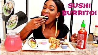 MUKBANG: DELICIOUS SUSHI BURRITO! EATING SHOW! YUMMYBITESTV