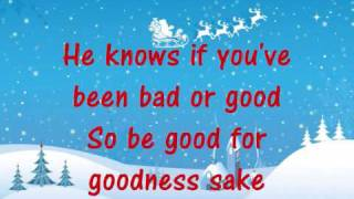 Santa Claus is coming to town- Mariah Carey (LYRICS)