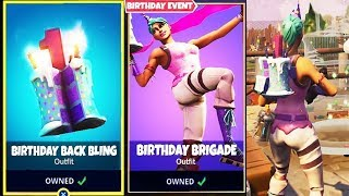 Cosmétiques Gratuits Fortnite / Back Bling Happy Birthday Rewards / Free Battle pass pour demain