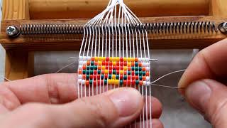 Мастер-класс \Браслет из бисера\ в технике станочного ткачества Анастасии Пегановой
