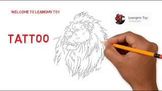 Drawing Tattoo, coloring page for kids,how to draw tiger