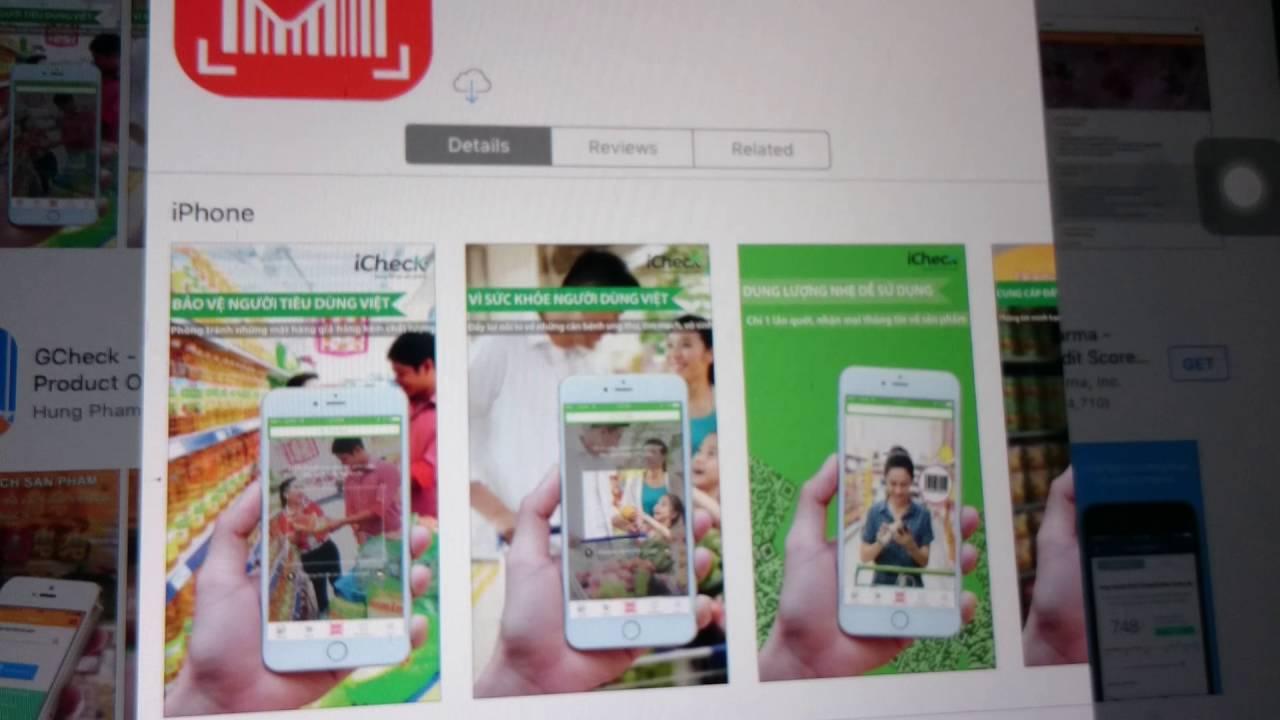 Hướng dẫn tải dowload phần mềm iCheck trên iPad iPhone Samsung Sony Xiaomi